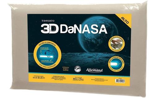 kit 3 travesseiros 3d nasa 13cm antialérgico alto duoflex