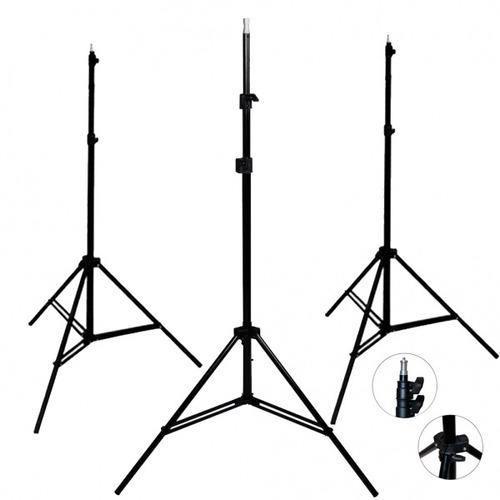 kit 3 tripies lightstand linco 2.13 metros