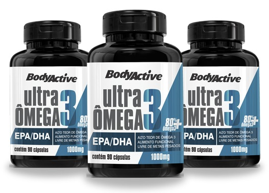 bf45ed698 Kit 3 Ultra Ômega 3 1000 Mg 90 Cápsulas Epa+dha 550 Mg - R  159