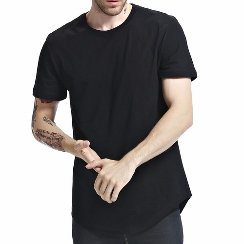 kit 3 un. camiseta oversized swag longline alongada vcstilo