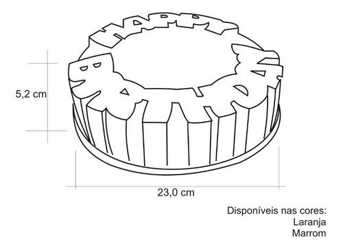 kit 3 unid formas em silicone