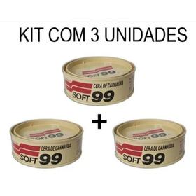 Kit 3 Unid. Soft99 Cera De Carnaúba Automotiva All Colors