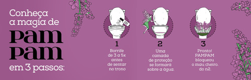 kit 3 unidades bloqueador de odor sanitário pampam lavanda 6