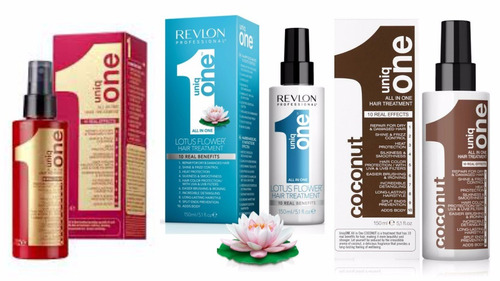 kit 3 uniq one revlon hair treatment original coconut lotus