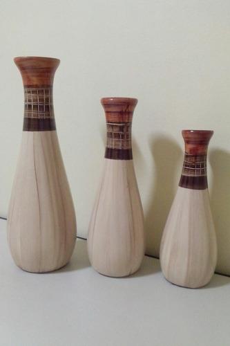 kit 3 vasos decorativos porcelana