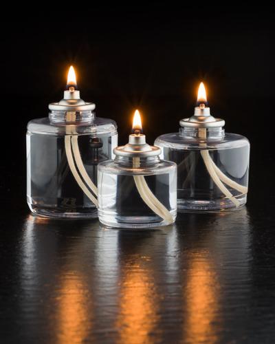 kit 3 velas ( 50 horas cada ) parafina líquida klar