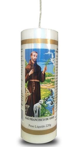 kit 3 velas votivas 7 sete dias são francisco de assis nv