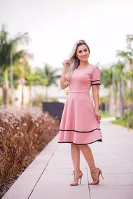 4bb778cf655 Vestido De Crepe Vermelho Vinho - Vestidos Femininas Rosa em São ...