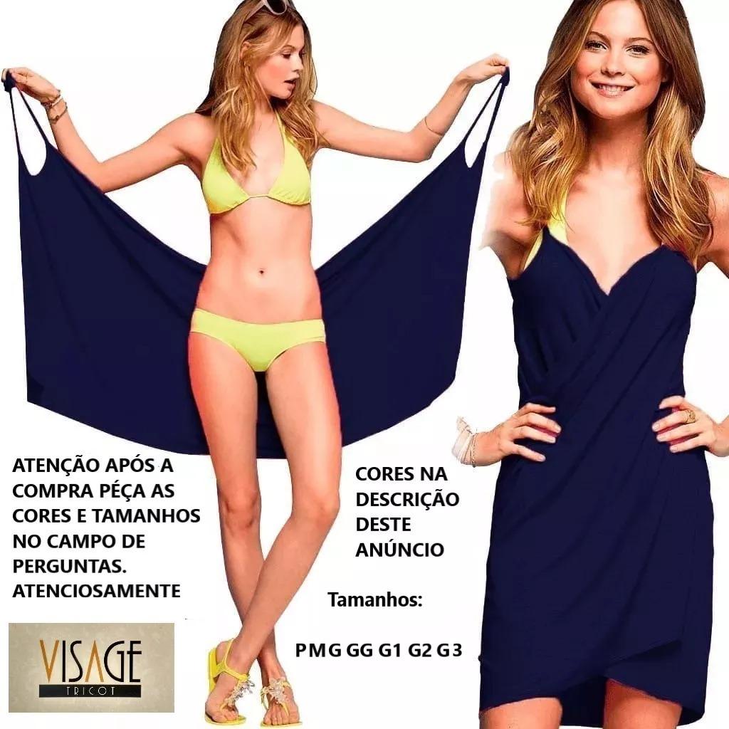 4a8dc6ce996 Kit 3 Vestido Saída De Praia Plus Size Moda Feminina, Roupas