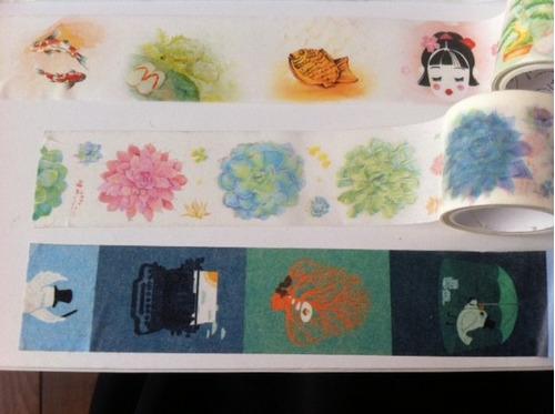kit 3 washi tape grossas com estampas lindas -   3cm