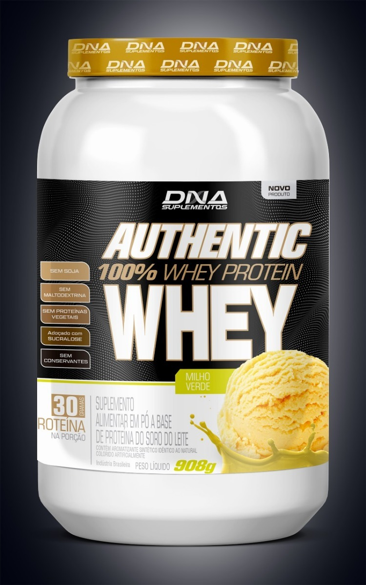 5cd8461a0 Kit 3 Whey Protein 100% Authentic 908g Dna Atacado - R  120