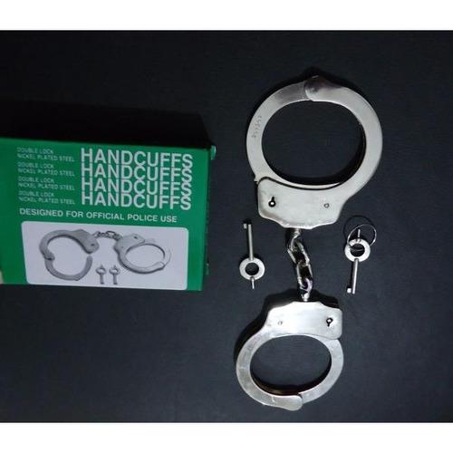 kit 3 x algema profissional handcuffs policiais e vigilantes