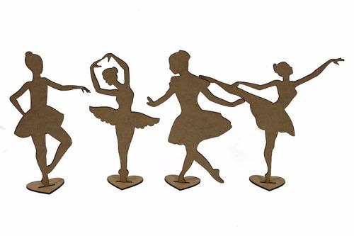kit 30 bailarina 30cm lembrança 15 anos decoração festa mdf