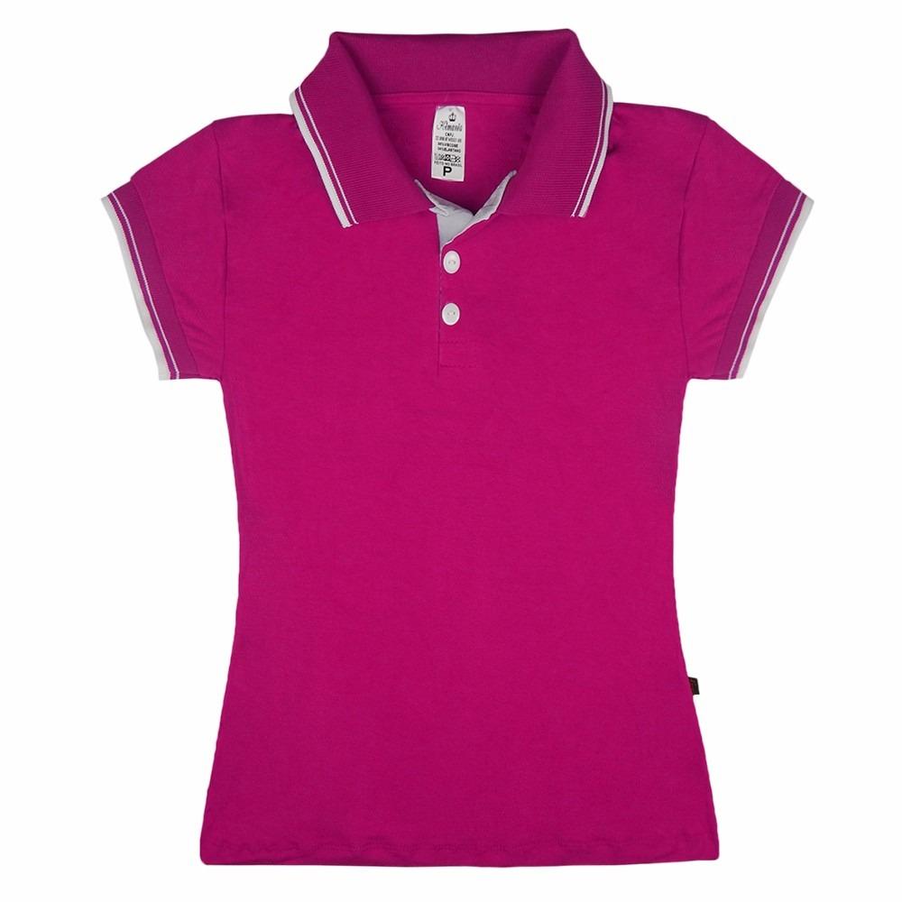 ddb6cdcf1f33f Kit 30 Blusa Feminina Gola Polo Camisa Plus Atacado Revenda - R  527 ...