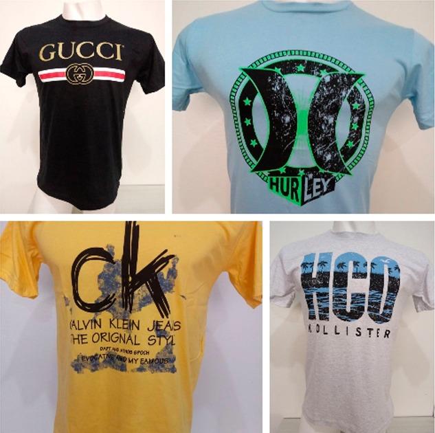 e91cc53f846 Kit 30 Camisetas Camisas Masculinas Baratas Marcas Famosas - R  399 ...