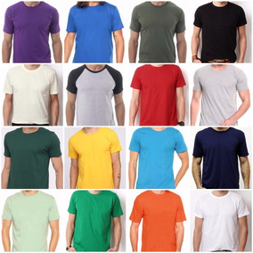 5e39b10e34 Camiseta Algodao Fio 30 no Mercado Livre Brasil