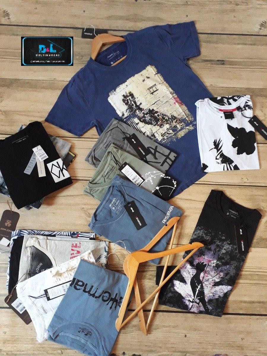 Kit 30 Camisetas Grife Originais Camisa Multimarcas Atacado - R  810 ... 94a61c42c70