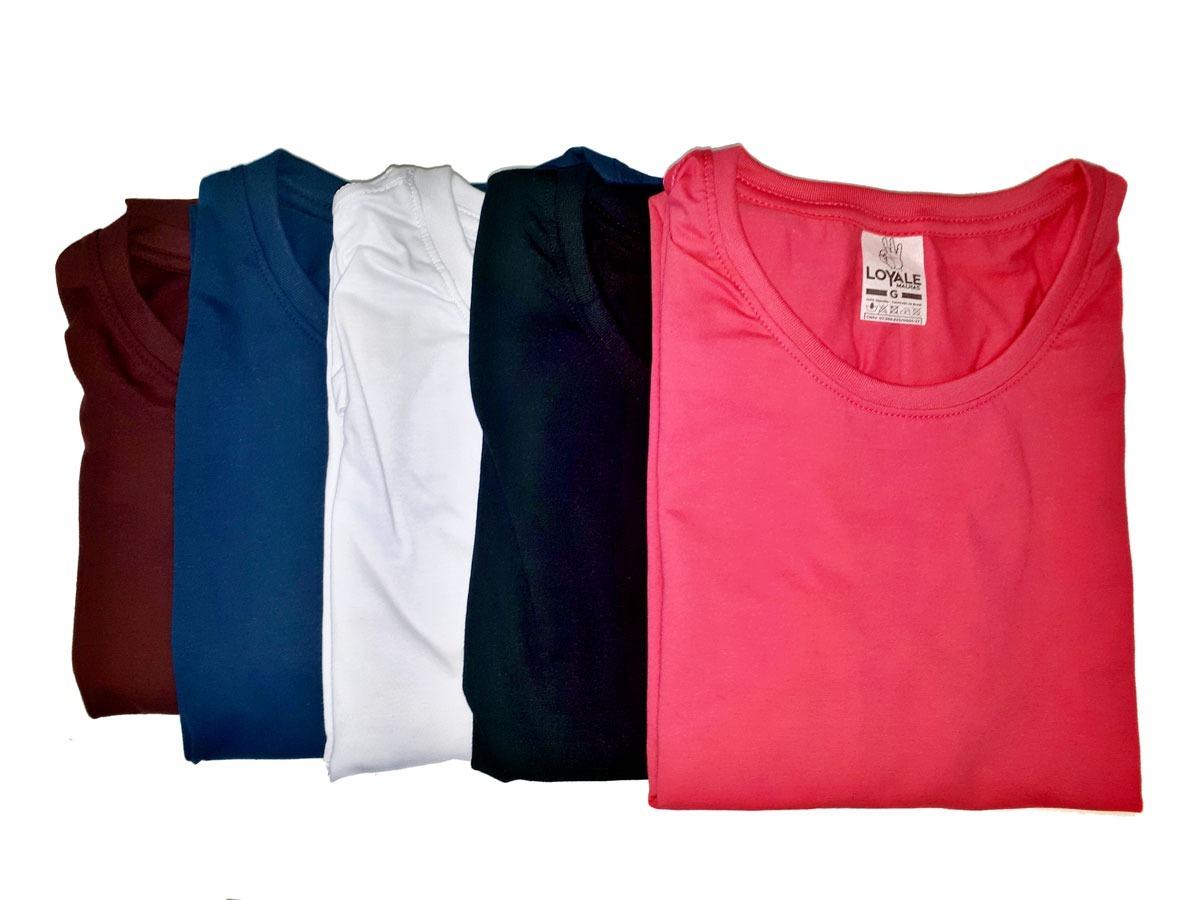 3c66e4c995 kit 30 camisetas masculinas lisas 100% algodão - modelo slim. Carregando  zoom.