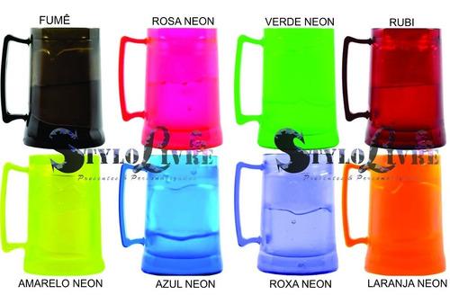 kit 30 canecas gel congelante c/ cordão personalizados