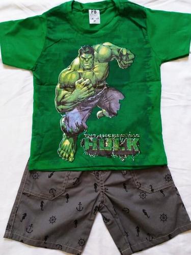 kit 30 conjunto roupa menino masculino personagens atacado