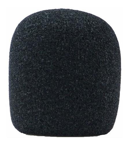 kit 30 espuma para microfone de mão sm58 preto mac esp2