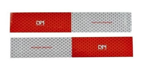 kit 30 faixa refletiva lateral + 4 parachoque dm caminhão 3m