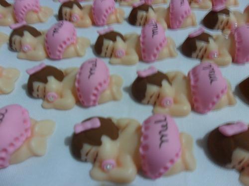 kit 30 lembrancinhas de nascimento - bebê bumbum