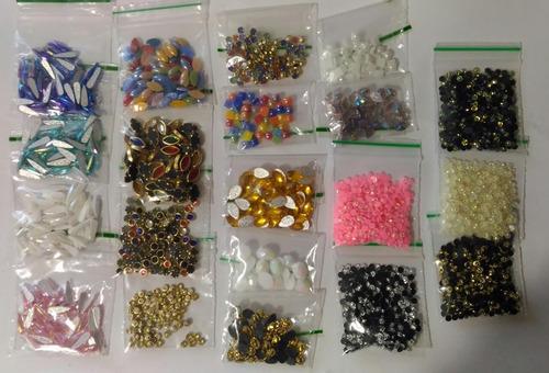 kit 30 mil pedrarias unhas strass caviar adesivos 200 pacote
