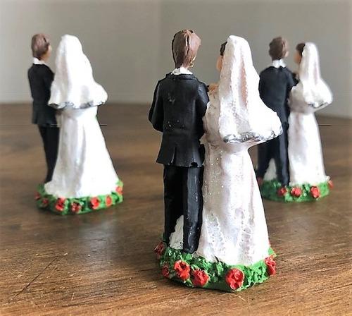 kit 30 noivos noivinhos resina casamento noivado