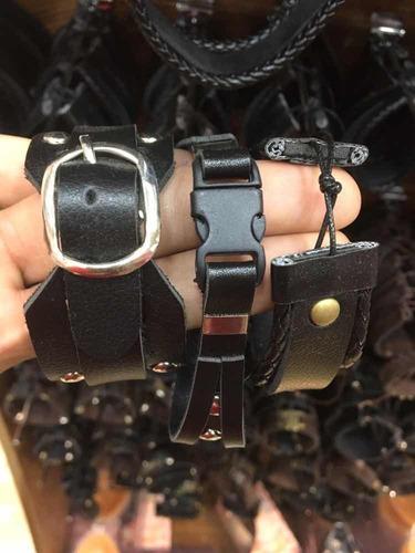 kit 30 pulseiras masculinas couro sintético atacado revenda