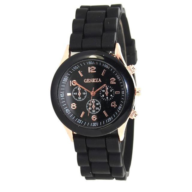 f19ee76b585 Kit 30 Relógio Feminino Geneva Pulseira Silicone - R  456