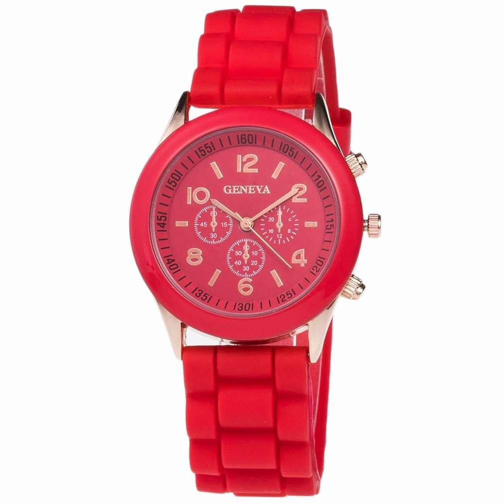 1ad419933eb kit 30 relógio feminino geneva pulseira silicone. Carregando zoom.