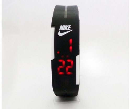 kit 30 relógios nike pulseira led watch c/2 bateria - pretos