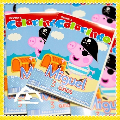 kit 30 revistas para colorir personalizada