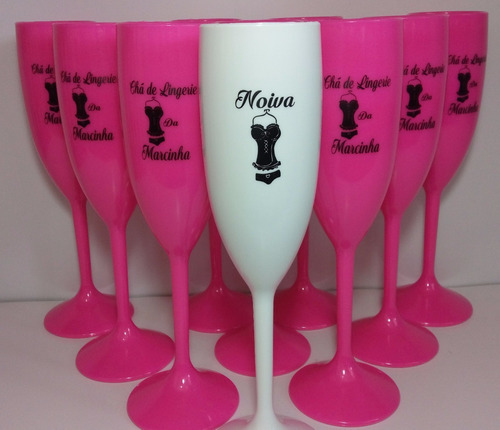 kit 30 taças chá de lingerie bride, festa e eventos em geral