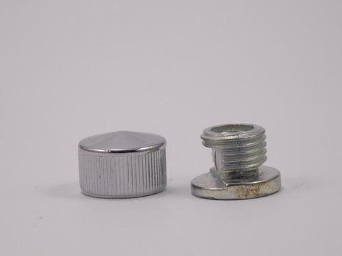 kit 300 botão frances de metal para espelhos