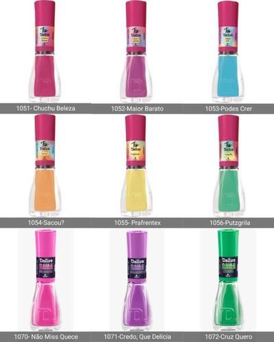 kit 31 esmaltes dailus nova coleção escolha sua cor