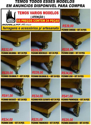 kit 312 pezinhos misto p/ artesanato mdf cartonagem bandejas