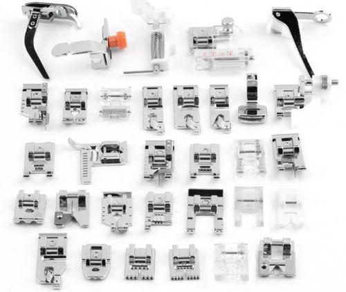 kit 32 calcadores maquinas domésticas singer, elgin + brinde