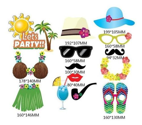 kit 32 plaquinhas divertidas festa casamento hawaii luau