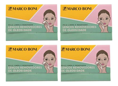 kit 320 lenços removedores de oleosidade do rosto marco boni