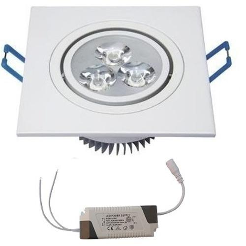 kit 33 spot super led quadrado 3w dicroica embutir direciona