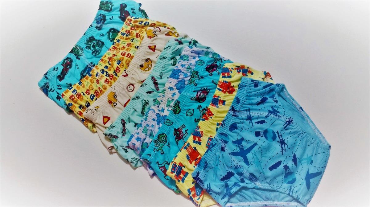 d3d7d4ceff kit 36 cueca infantil rebatida 100% algodão estampada. Carregando zoom.