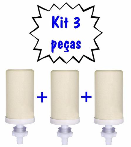 kit 3un refil vela de cerâmica para filtros e bebedouros