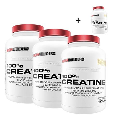 kit 3x 100% creatina 100g + brinde 100% creatina 100g