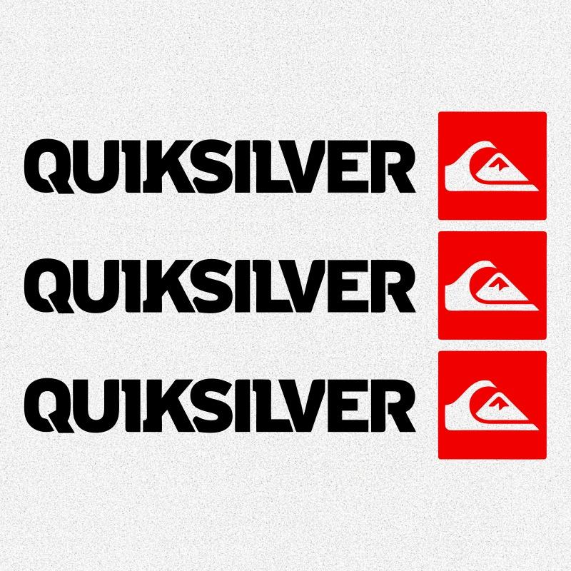 07bf98f29 kit 3x adesivos quiksilver marcas famosas roupas 12cm a593. Carregando zoom.