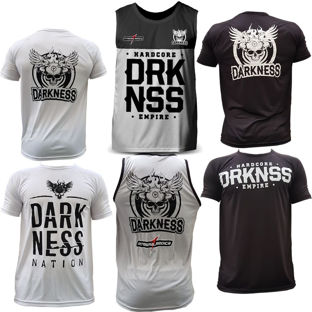 kit 3x camisetas regatas darkness integralmedica empire. Carregando zoom. 345acd552f035