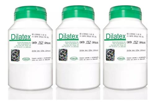 kit 3x dilatex 152 cáps cada - power supplements fretegrátis