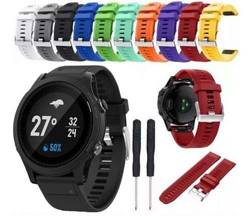 kit 3x pulseira garmin 935 fenix 5 quatix s60 silicone cores