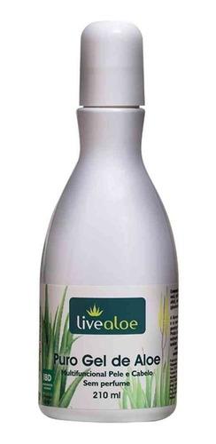 kit 3x puro gel + 1x shampoo de babosa live aloe vera